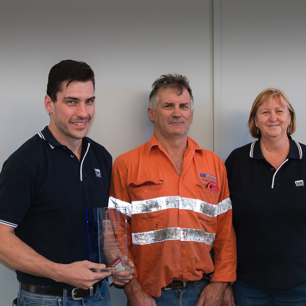 Aaron Kent service award